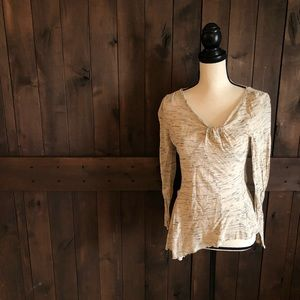 ANTHROPOLOGIE HOLDING HORSES Long Sleeve Knit Top